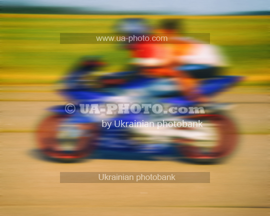 rider on the track at speed
