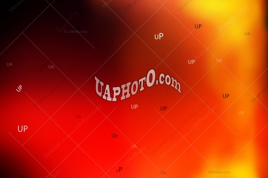 Abstract composition, blurred background. Red, black, orange and