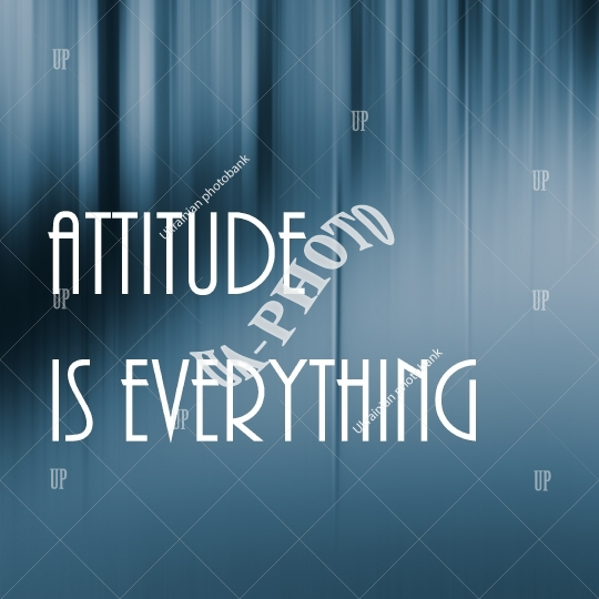 attitude everything lettering
