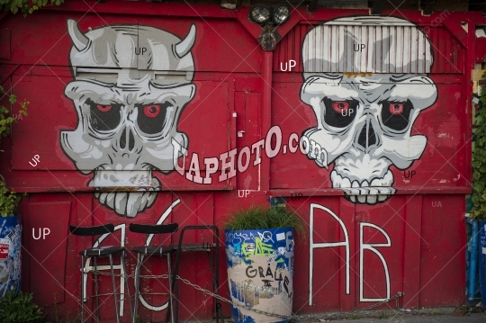 BASEL, SWITZERLAND - JUNE 01, 2017: Impressive art graffiti
