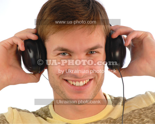 young guy in headphones